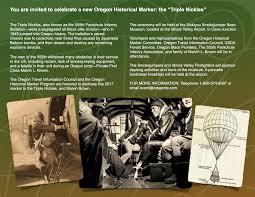 triple nickles historical marker dedication invitation oregon