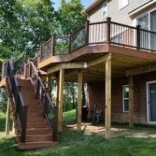 beautiful deck designs over walkout basement deck patio