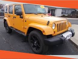orange jeep wrangler unlimited for sale used 2012 jeep wrangler unlimited for sale ottawa il
