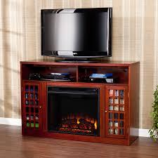 narita media electric fireplace mahogany