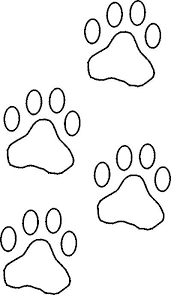 paw print template free stencils collection stencils construction paper front