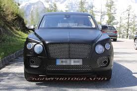 bentley suv 2018 spied bentley suv prototype w continental gt face motor trend wot