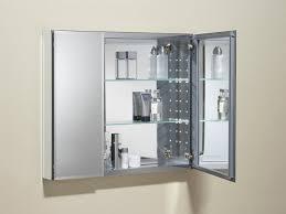 bathroom stunning double doors medicine cabinet with glass shelf