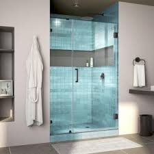 38 Shower Door Dreamline Unidoor 38 In X 72 In Frameless Hinged Shower Door