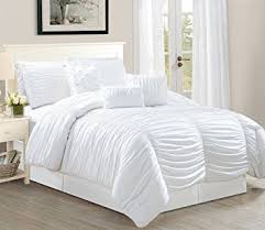 Ruffled Bed Set Odessa 7 Tufted Ruffle Comforter Bedding Set