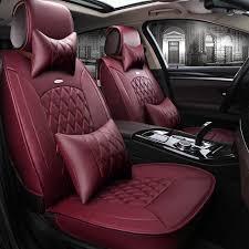 housse de si es auto avant arrière en cuir spécial housse de siège de voiture pour
