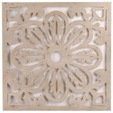 marvelous wood medallion wall white simple design astounding