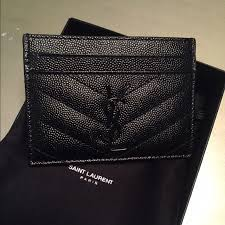 ysl business card holder yves laurent authentic laurent quilted card holder