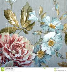vintage wallpaper with floral pattern stock image image 37446881