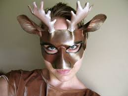 moose leather mask child or sizes masquerade mask