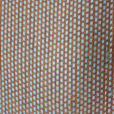 camel woven with light blue cross trimmed embroidered fabric
