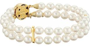 double pearl bracelet images Majorica double row pearl bracelet in metallic lyst jpeg