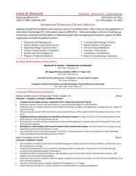 Resume Sample For Internship by Security Specialist Resume