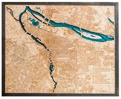 Oregon City Oregon Map by Portland Oregon 3d Wood Map U2022 Tahoe Wood Maps