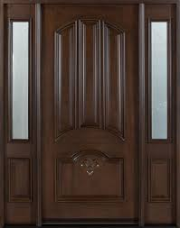 high quality luxury carving flower wooden single main door design