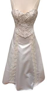 mcclintock wedding dresses mcclintock diamond white satin bridal gown formal wedding
