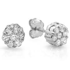 invisible earrings invisible stud earrings with 14 diamonds tregali
