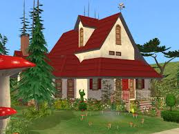 Sims 2 Ikea Home Design Kit by House Landscape Design Ideas For Red Brick With Rooftop Classic