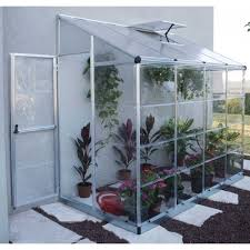 Palram Hybrid Greenhouse Aluminium Lean To Green Houses Halls Palram