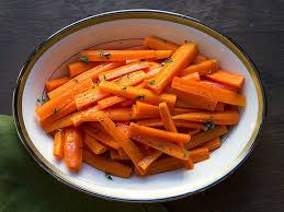 glazed carrots with maple syrup and thyme recipe saveur