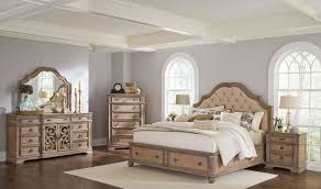 ilana king panel storage bedroom set antique linen dfw