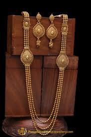 gold long necklace set images Golden antique gold long necklace set by punjabi traditional jpg