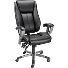 Leather Task Chair Staples Santoro Bonded Leather High Back Task Chair Black Staples