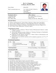 Resume Bio Template Example Of A Bio Data Resume Template Example