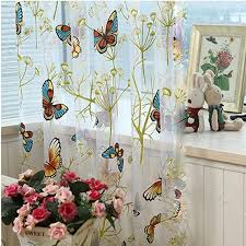 Butterfly Kitchen Curtains Curtains Organza Picture More Detailed Picture About Butterfly