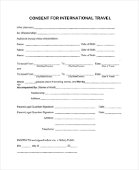 sample travel consent forms 10 free documents in pdf doc
