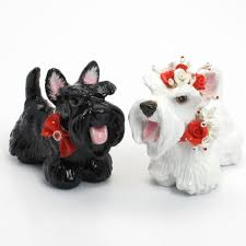 scottish terrier wedding cake toppers figurine pet lover gifts