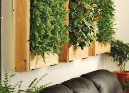 designs ideas indoor vertical garden on wall with recycled wood