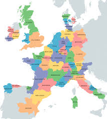 European Union Blank Map by Areas Of The Us As European Countries Of Equal Gdp As Well As