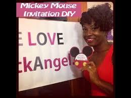 mickey mouse birthday invitations diy that angel tv