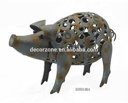 metal garden ornaments pig outdoor decor buy garden pig garden