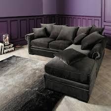Grey Velvet Sectional Sofa Sectional Corner Sofa In Grey Velvet Seats 5 Plazza Maisons Du