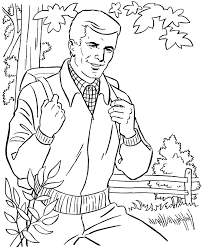 father u0027s day coloring pages father outdoors honkingdonkey
