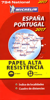 Portugal Spain Map by 794 Michelin Map Spain U0026 Portugal High Resistance 2017 Spain