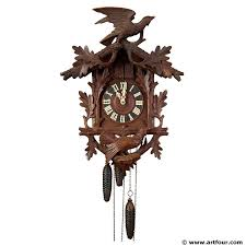 Antique Cuckoo Clock Great Black Forest Carved Cuckoo Clock