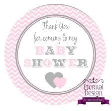 baby shower thank you baby shower thank you pink grey eternal design