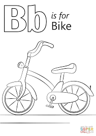 letter b is for bike coloring page and coloring page snapsite me