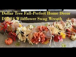 dollar tree fall home decor diy 4 wildflower swag wreath