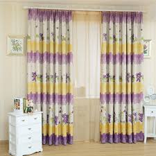 Curtains With Purple In Them Patterns Colorful Yellow And Purple Curtains