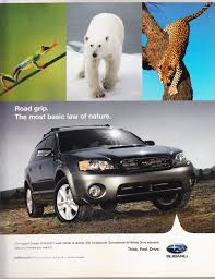 subaru outback magazine advertisement think feel drive vintage