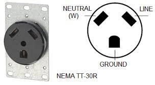 wiring rv connector tt 30