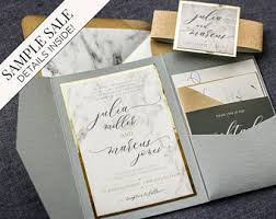 wedding invitations gold foil gold foil invitation etsy
