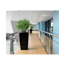 40 Square by Lechuza Cubico 40 Square Tapered Planter At Lovelights Co Uk