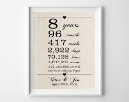 8th anniversary gift ideas for best 25 8th anniversary ideas on presents map