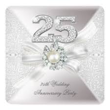25 wedding anniversary 25th wedding anniversary invitations 2100 25th wedding