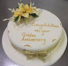 golden wedding cakes wedding anniversary ideas manchester lading for